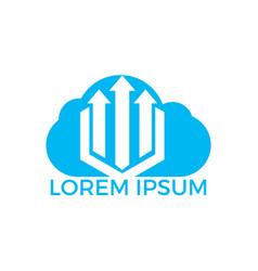 cloud business finance professional logo design vector image