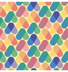 Colorful seamless pattern retro style vector