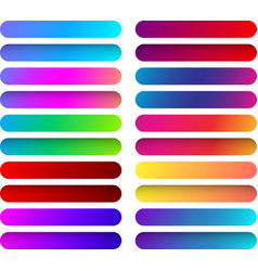 colorful web button templates isolated on white vector image