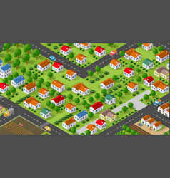 Country village district vector