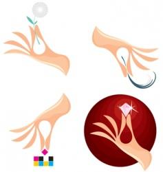 Creative hands vector