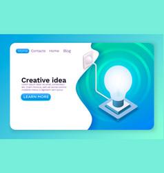 creative idea brainstorm information lamp symbol vector image