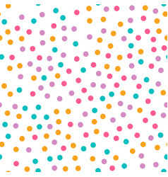 cute circle seamless pattern on white background vector image