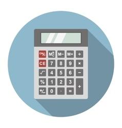 Dark gray calculator vector image vector image