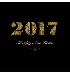 Dark New Year lettering vector image