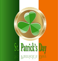 Decor Ireland Culture Leprekon Leaf Mart Celebrati vector image