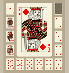 diamonds suit playing cards vector image