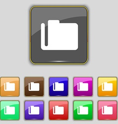 Document folder icon sign Set with eleven colored vector
