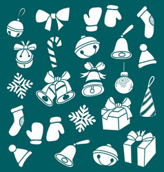 Dooddle christmas elements vector