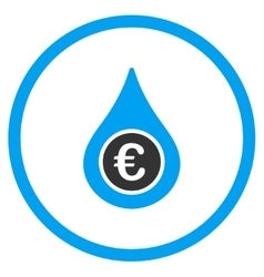 Euro Liquid Drop Rounded Icon vector image