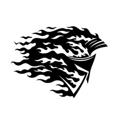 fiery spartan helmet icon vector image