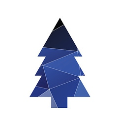 Fir-tree icon Abstract Triangle vector