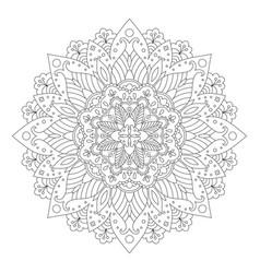 floral mandala design vector image