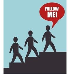 Follow me social trendy design vector