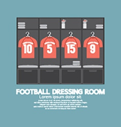 Football Or Soccer Dressing Room vector image