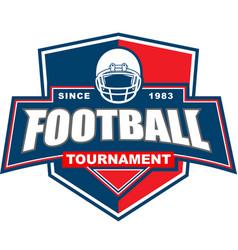 football tournament badge logo vector image