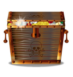 full pirates treasure chest vector image
