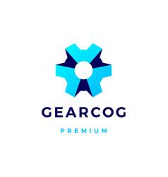 Gear cog cogs logo icon vector