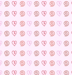 gentle pink background of hearts vector image
