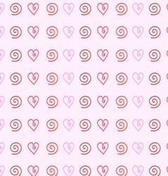 Gentle pink background of hearts vector