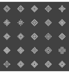 Geometric icons set vector image