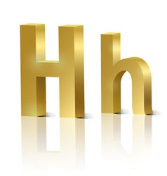 Golden letter H vector image
