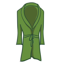 Green bathrobe on white background vector