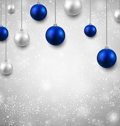 Grey background with christmas balls vector