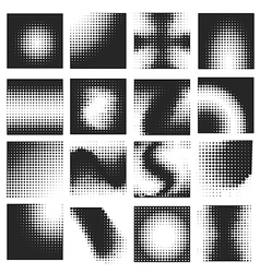 Halftone pattern set vector image