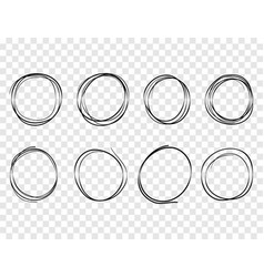 hand drawn circles lines sketch round scribble vector image