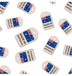 Hang tag made in australia with flag seamless vector