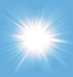 Heaven light starburst vector