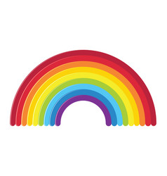 icon of rainbow vector image