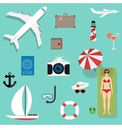 icons and concepts in flat style - travel vector image