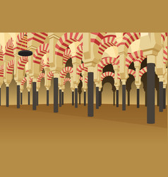 Inside of alhambra palace in spain vector