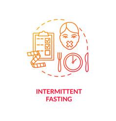 Intermittent fasting concept icon vector