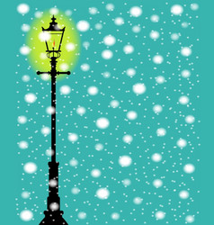 Lamppost in the snow vector