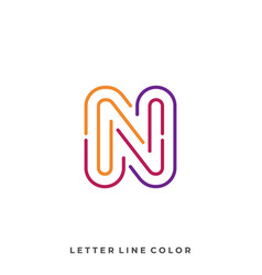 letter color template vector image