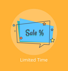Limited time sale banner in speech bubble vector