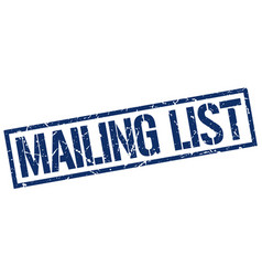 Mailing list stamp vector