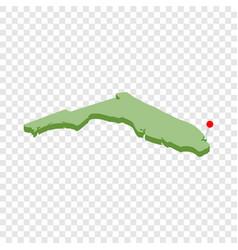 Miami on map florida isometric icon vector