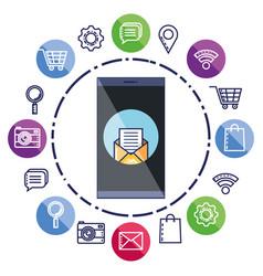 Mobile phone chat message bubble speech vector