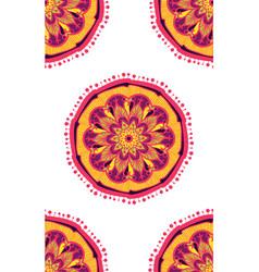 Native bright seamless pattern from boho mandala vector