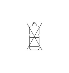 no detergent icon vector image
