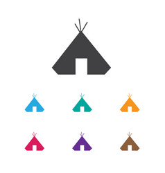 Of camping symbol on refuge vector
