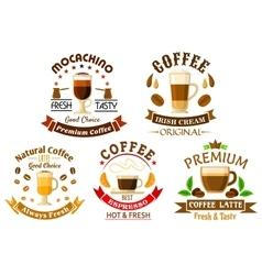 Original drinks for coffee shop design vector image