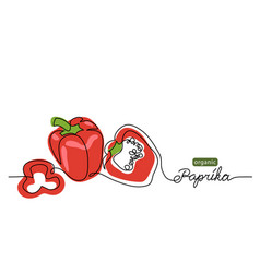paprika bell pepper red sweet pepper vector image