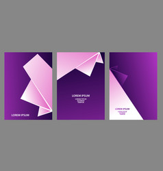 purple and white abstract backgrounds set vector image