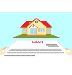 Request house loan vector