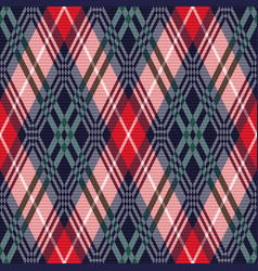 rhombus tartan seamless texture in various colors vector image